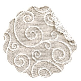 Montpellier Round Quilted Placemat Set of 6