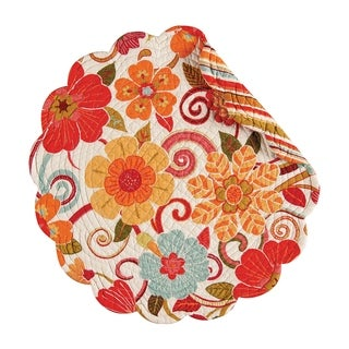 Giselle Round Quilted Placemat Set of 6