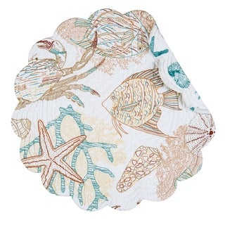 Key Biscayne Round Quilted Placemat Set of 6