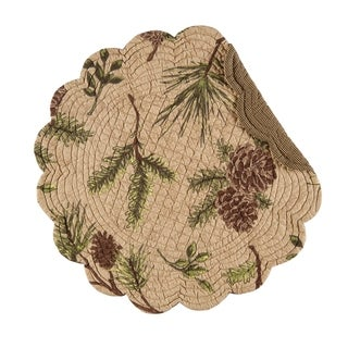 Woodland Retreat Round Quilted Placemat Set of 6