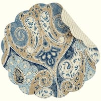 Nazima Round Quilted Placemat Set of 6