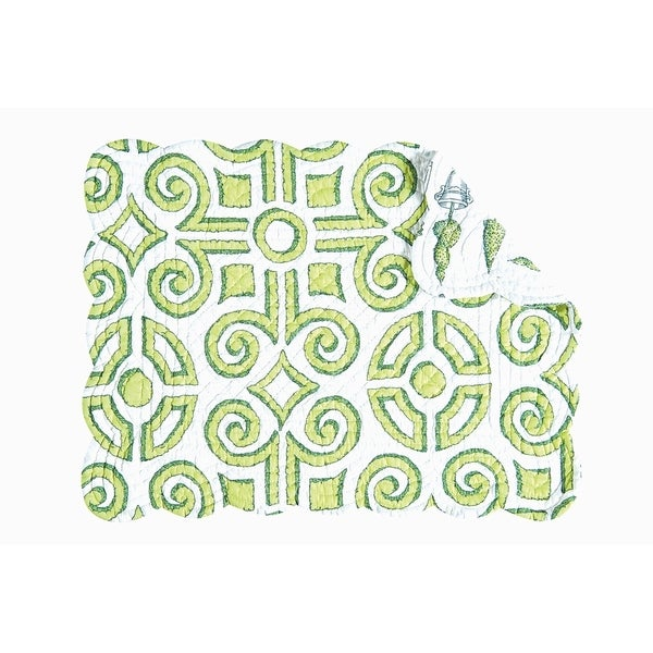 Boxwood Abbey Quilted Rectangular Placemat Set of 6