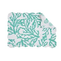 Cora Seafoam Quilted Rectangular Placemat Set of 6