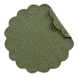 Pine Round Quilted Placemat Set of 6