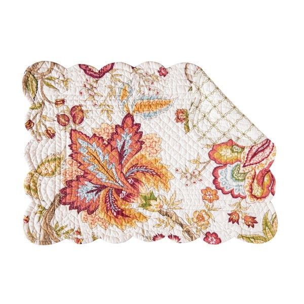 Bethany Cotton Quilted Oblong Placemat Set of 6