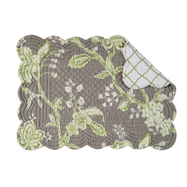 Annabelle Quilted Rectangular Placemat Set of 6