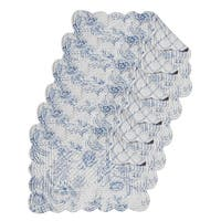 Clementina Dusk Cotton Quilted Oblong Placemat Set of 6