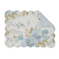 Jesamine Quilted Rectangular Placemat Set of 6