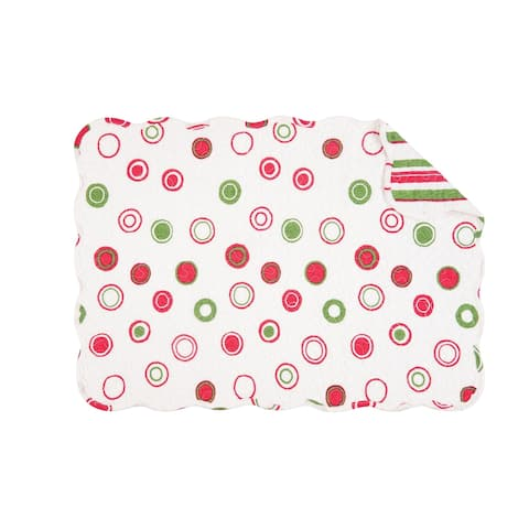 Holiday Bubbles Quilted Rectangular Placemat Set of 6