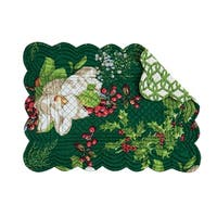 Bella Magnolia Cotton Quilted Oblong Placemat Set of 6