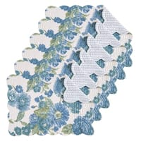 Laurel Cotton Quilted Oblong Placemat Set of 6