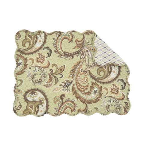 Zoey Quilted Rectangular Placemat Set of 6