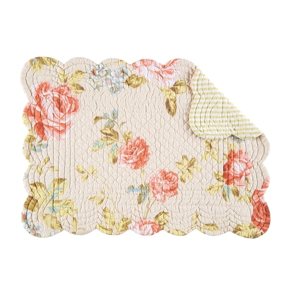 Whitney Cotton Quilted Oblong Placemat Set of 6