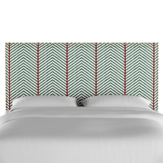Skyline Furniture Nail Button Headboard in Broken Twill Evergreen Lga
