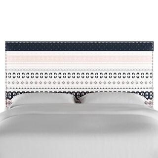 Skyline Furniture Nail Button Headboard in Nordic Sweater