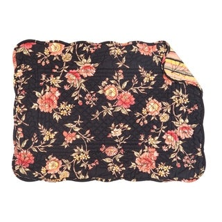 Aria Floral Quilted Rectangular Placemat Set of 6