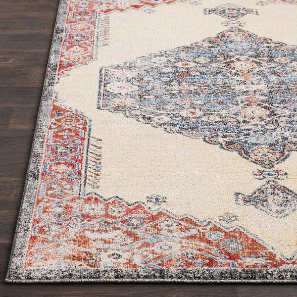 Adrastos Traditional Distressed Khaki Area Rug (2' x 3')