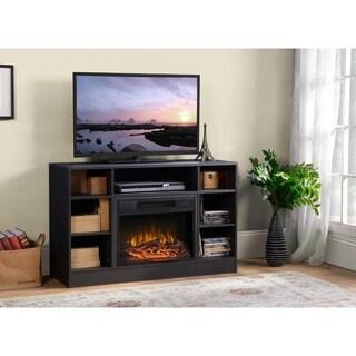 Oakley Media Fireplace in Graphite Quartered Oak
