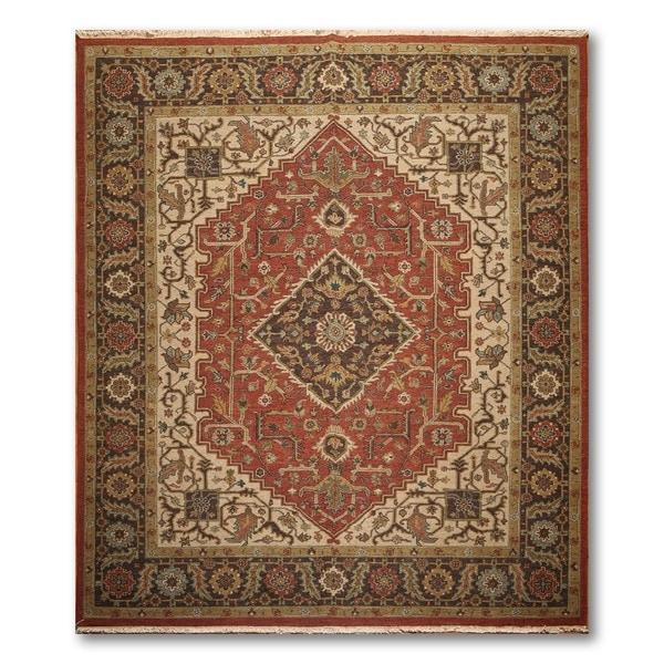 Ornamental Soumak Nourmak Hand Knotted Reversible Persian Oriental Area Rug (8'x10')