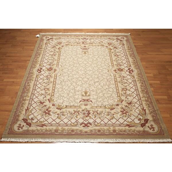 "French Aubusson Design Reversible Soumak Nourmak Persian Oriental Area Rug (8'1""x10'1"")"
