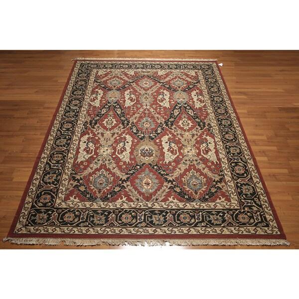 Pure Wool Reversible Soumak Nourmak Persian Oriental Area Rug - multi