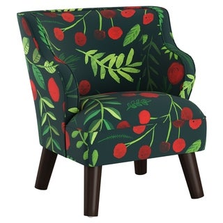 Skyline Furniture Kids Accent Chair in Holly Evergreen