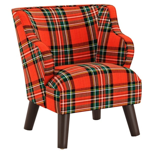 Skyline Furniture Kids Accent Chair in Plaid