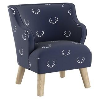 Skyline Furniture Kids Accent Chair in Antler