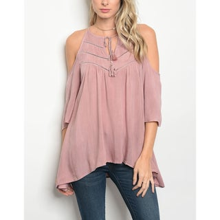 JED Women's Washed Viscose Fabric Cold Shoulder Top (2 options available)