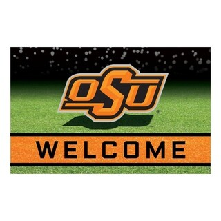 "Oklahoma State University 18""x30"" Rubber Door Mat"