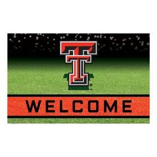 """Texas Tech University 18""""x30"""" Rubber Door Mat"""