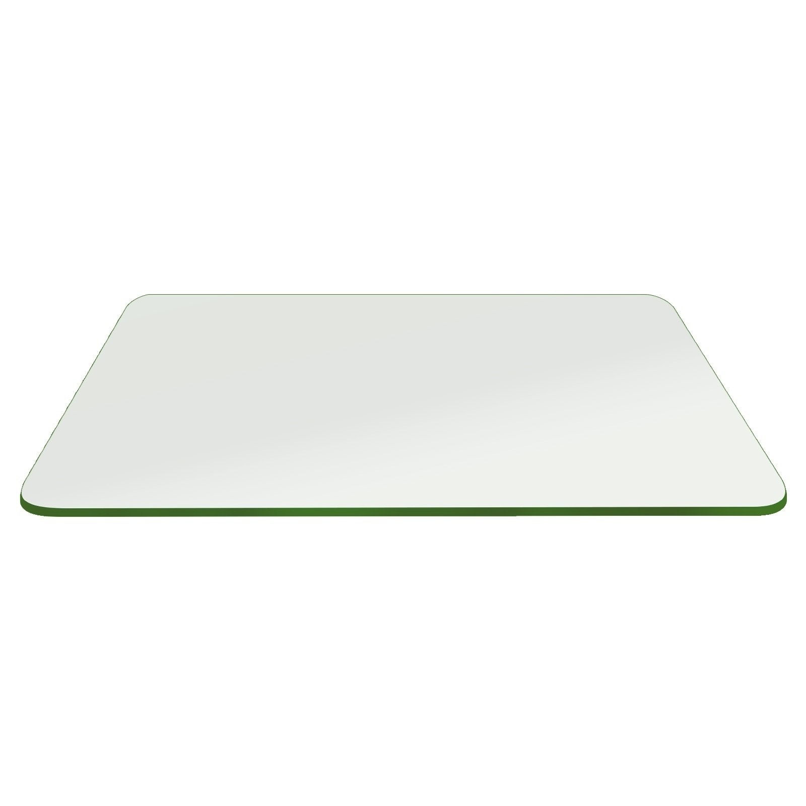 """Rectangle Glass Table Top 1/4"""" Thick Flat Edge Tempered E..."""