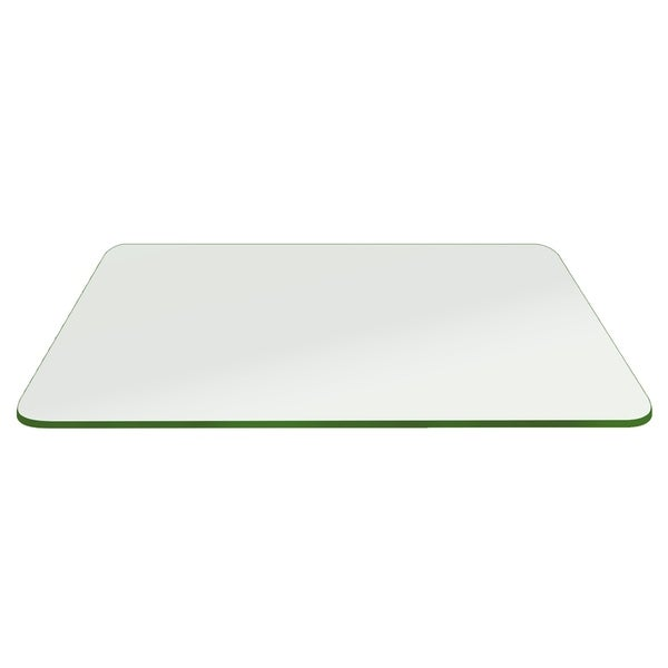 """Rectangle Glass Table Top 1/4"""" Thick Flat Edge Tempered Eased Corners by Fab Glass and Mirror"""