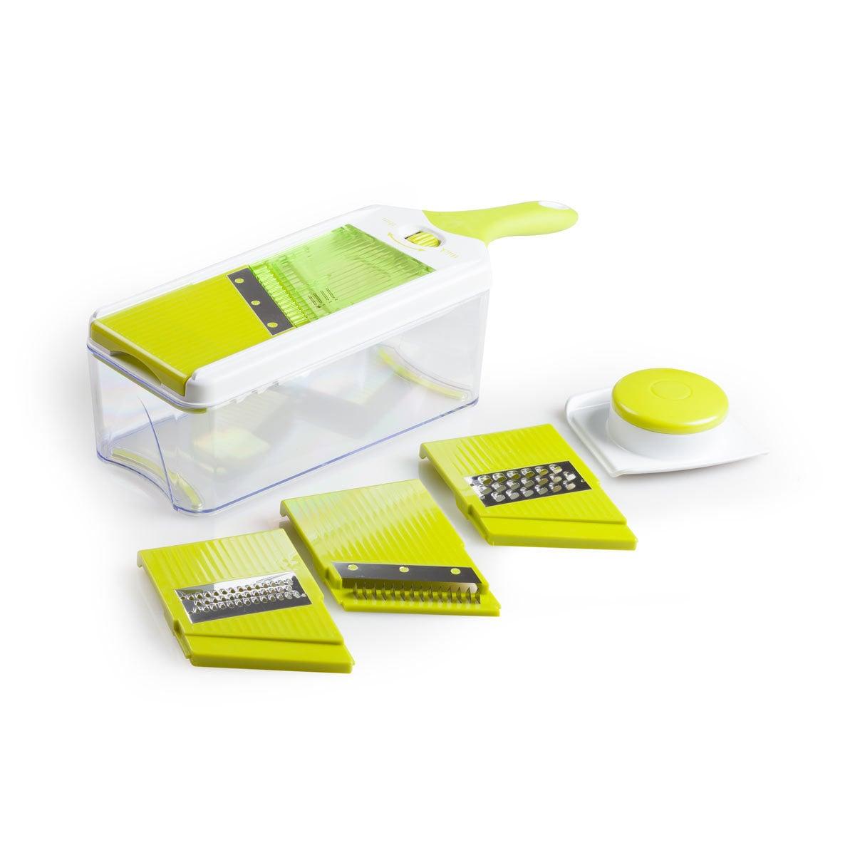 FortheChef Adjustable Mandoline Slicer (4 interchangeable...