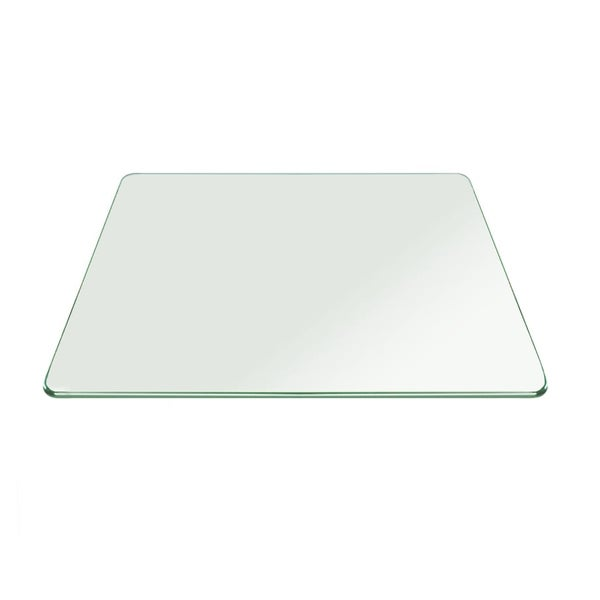 Shop Square Tempered Glass Table Top 38 Thick Pencil Polish Touch