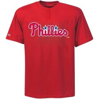 Phillies Adult Cotton 2-Button Placket S-2XL