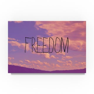 Vintage Skies 'Freedom' Canvas Art