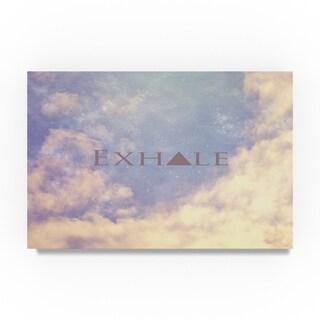 Vintage Skies 'Exhale' Canvas Art