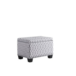 Abbyson Mercer Grey Patterned Small Storage Ottoman Free