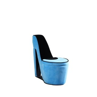 32.86-inch Glamour Girl Modern Living Room High Heel Storage Chair