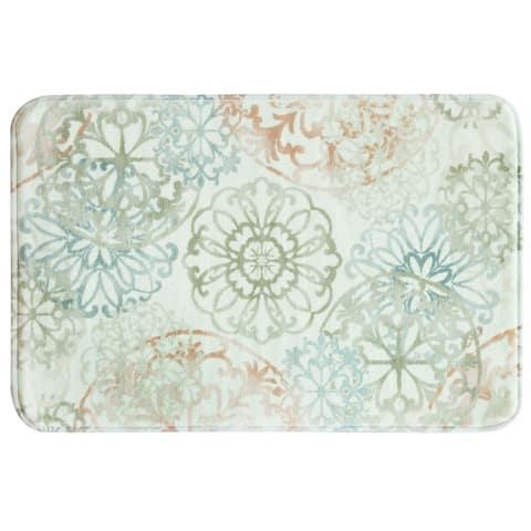Kaleidoscope 20x30 memory foam bath rug by Bacova