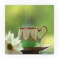 Beata Czyzowska Young 'Morning Tea' Canvas Art