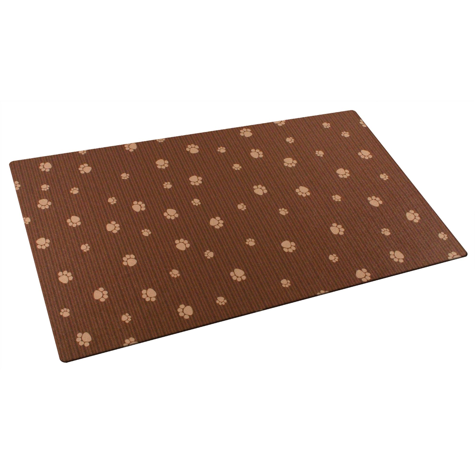 "Drymate PP1220BNSTP 12"" X 20"" Brown & Tan Pet Place Mat (..."