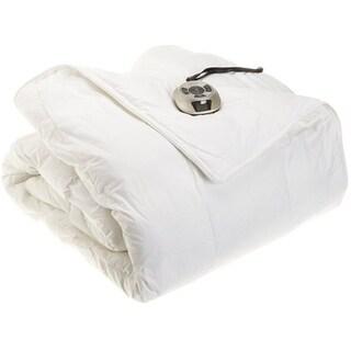 Sunbeam Electric Heated Warming Comforter Premium Luxury - Twin Size White