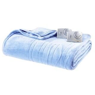 Biddeford 2033-903291-535 MicroPlush Electric Heated Blanket Queen Cloud Blue
