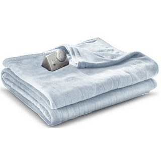 Biddeford MicroPlush Electric Heated Blanket Twin Parade Blue