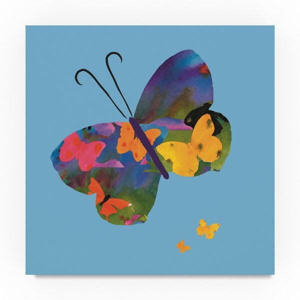 Sheila Golden 'Butterfly' Canvas Art
