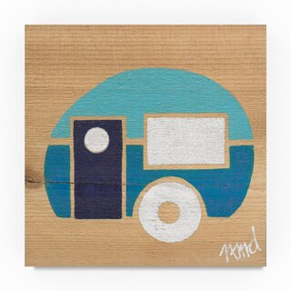 Nicole Dietz 'Blue on Blue Camp' Canvas Art