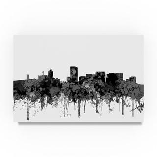 Marlene Watson 'Portland Oregon Skyline B and W' Canvas Art