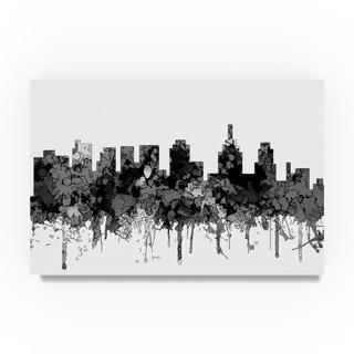 Marlene Watson 'Philadelphia Skyline B and W' Canvas Art